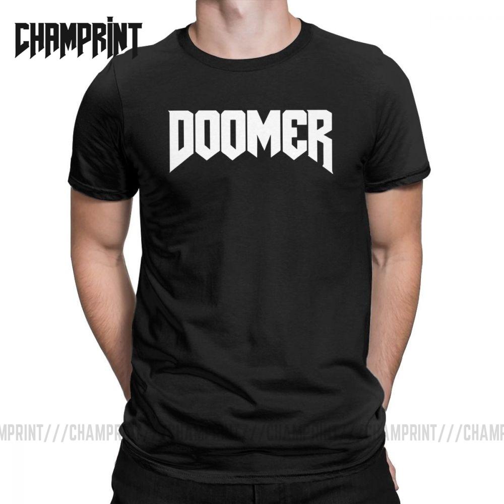 Мужская футболка Doomer Doom, футболка с коротким рукавом в стиле ретро, из чистого хлопка