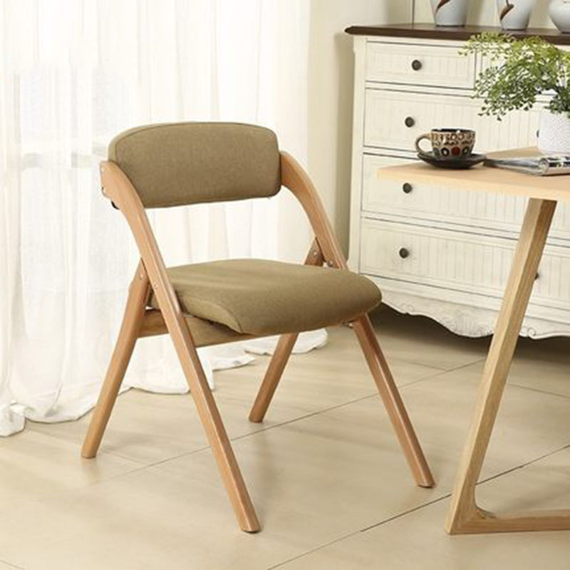Simple Modern Home Beech Folding Chair Solid Wood Fabric Armchair Washing And Dining Sofa Camping Office Stool Coffee Chair