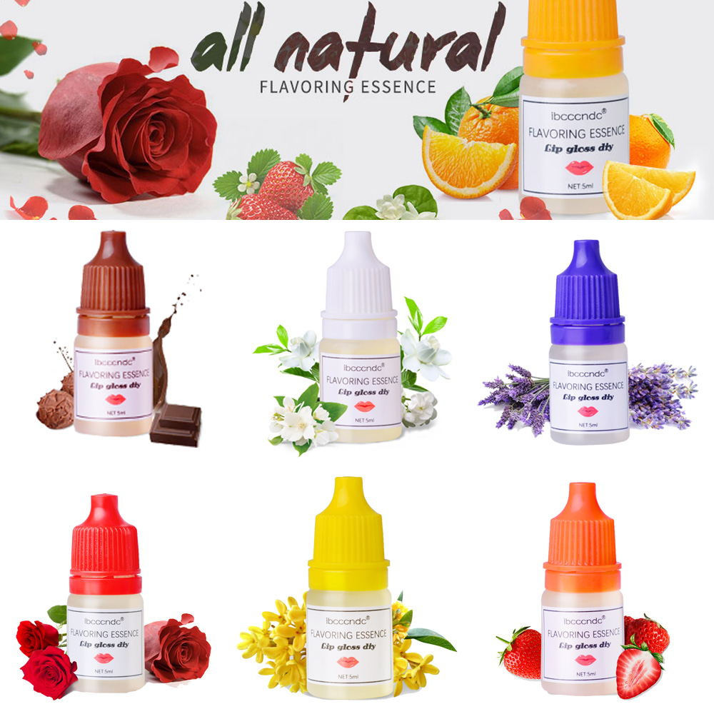 7Styles/Set Natural Flavor Essence For Handmade Cosmetic Lip Gloss Base Lipgloss DIY Food Grade Fragrance Flavoring Essential