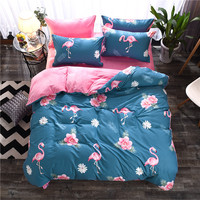 100% Cotton Duvet Cover Cute Birds Bed Cover for Kids Adults Single Double Bed Bedroom Use XF650 3 (No Pillowcase)