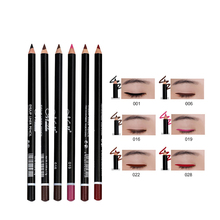 Eyeliner Pencil Waterproof Makeup-Kit Eyebrow High-Pigmented 12-Colors for Women Girl