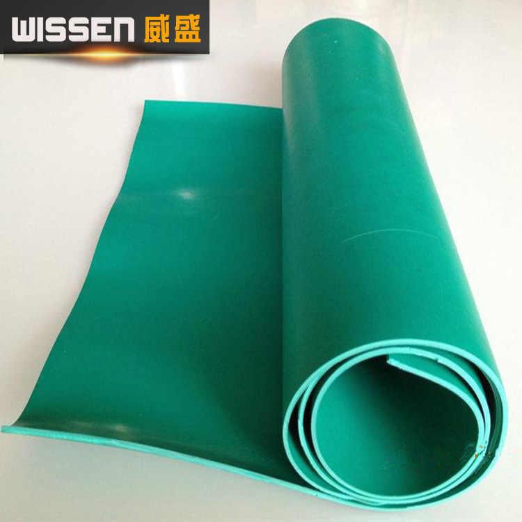 יצרני מכירה ישירה ירוק ללבוש עמיד בידוד PVC גמיש לוח 3 Mm רצפת Workbench רק לוח מחוונים כיסוי PVC Ru