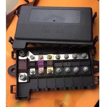 Caja de fusibles de 8 vías, 1 Mega y 7 Midi, ANM fusible ANS caja soporte DC 32V 7 vías relé de fusibles caja bloque de soporte, Terminal Protector de circuito 1