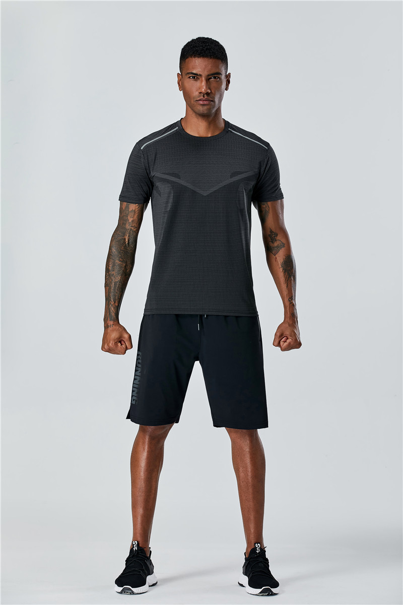 Raibaallu Men's Sportswear Suits Training Clothing Set Training Jogging Sports Running Workout Gym Dry Fit Plus Size