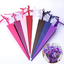 Paper-Wrapping-Bags Flowers-Package Rose-Box Wedding Valentine's-Day-Gift Custom Single-Flower