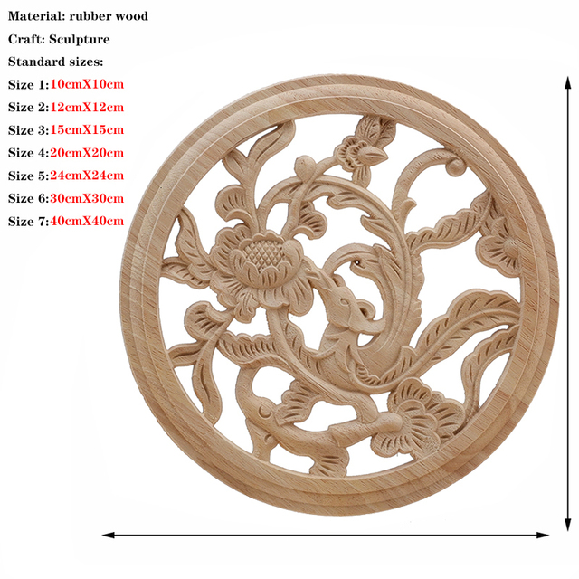 RUNBAZEF  Onlay Wood Applique Decal Corner Home Cabinet Window Unpainted Antique Modern Ornamental European Decoration Wooden 2