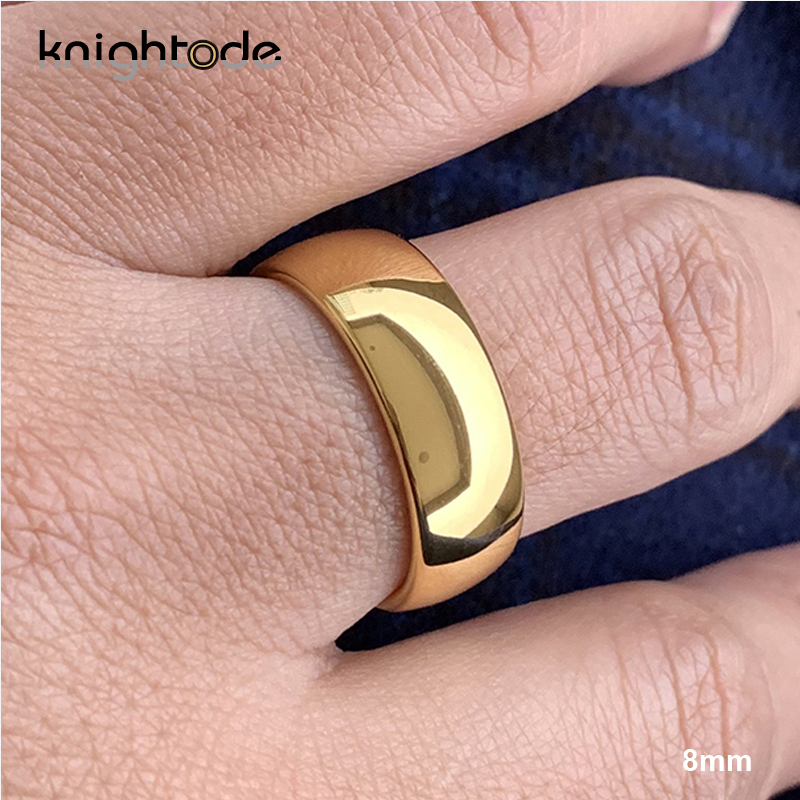 Classic Rose Gold Tungsten Wedding Ring For Women Men Tungsten Carbide Engagement Band Dome Polished Finish 8mm 6mm Ring 5