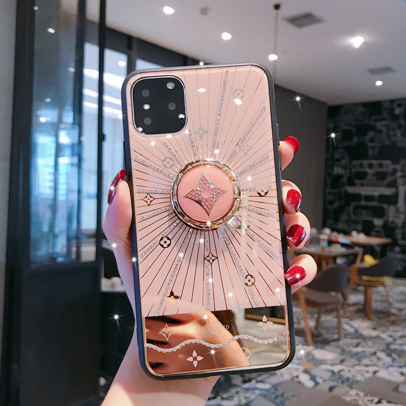 Electronics - For Iphone 11 Case Luxury Diamond With Ring Stand Gold protective back cover case for iphone 11 Pro Max iphone11 11Pro