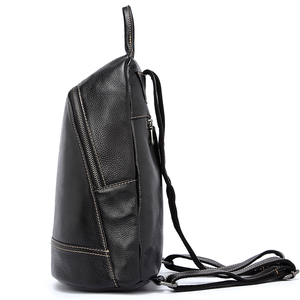 Image 3 - Zency 100% Genuine Leather Fashion Women Backpack Preppy Style Girls Schoolbag Black Holiday Knapsack Lady Casual Travel Bag
