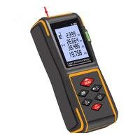 60m Laser Range Finder Telêmetro A Laser Balança Eletrônica Digital Portátil Instrumento De Medição Dispositivo De Construção|Telêmetro a laser| |  -