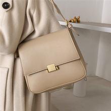 Роскошная квадратная клапаном женские сумки на плечо мужская