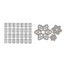 31 Pcs Scrapbooking Die Cutting Die Cutting Mesin Embossing Mati Cutting Dies Stensil untuk Sizzix Big Shot dan Embossin(China)