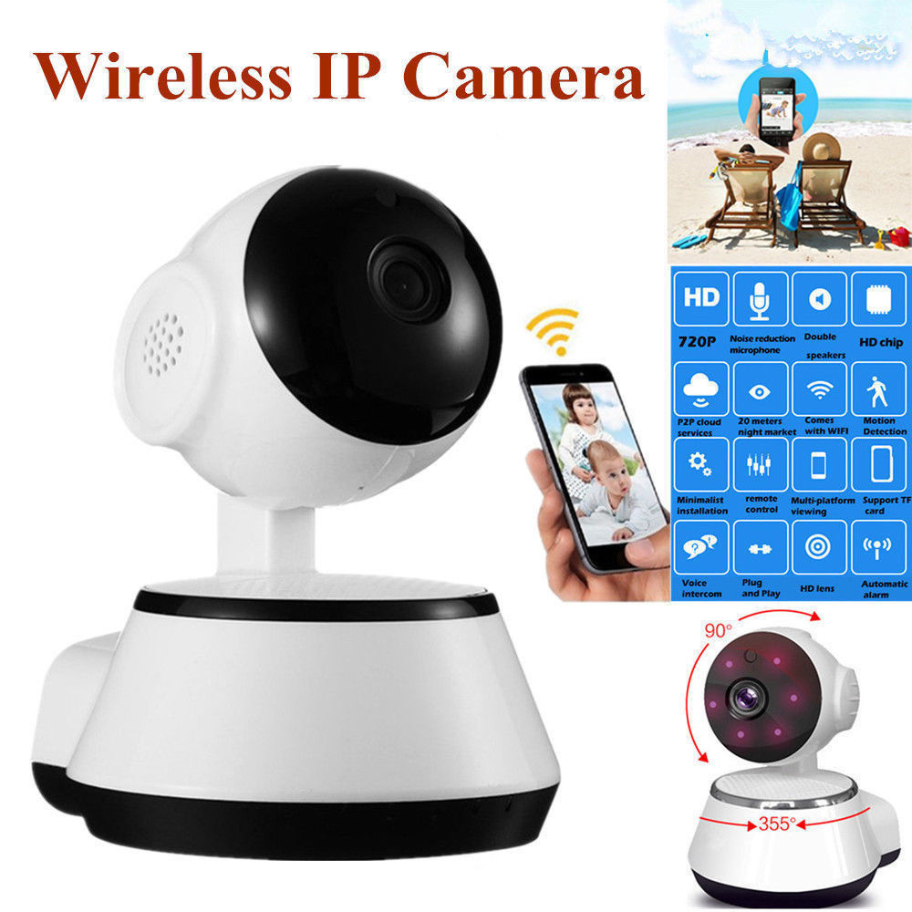 Home Security IP Camera 720P HD Wifi Wireless Surveillance Camera 3.6mm Lens Wide Angle Indoor Camera Support Night Vision Dome