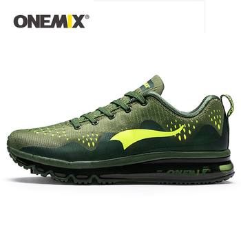 ONEMIX Summer Men Running Shoes Sports Sneakers Damping Cushion Breathable Outdoor Lace-up Air Trainers Men Walking Tennis Shoes onemix 2018 men running shoes breathable runner athletic sneakers air cushion running shoes outdoor walking shoes free shipping