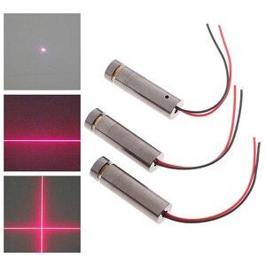1 шт. 650нм 5 МВт красная точка/линия/Крест лазерный модуль головка стеклянная линза Фокусируемый промышленный класс