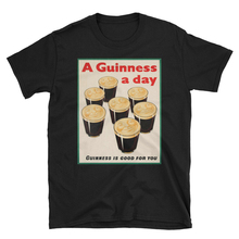 A Guinness A Day Vintage Beer Ad Unisex T-Shirt Loose Size Tee Shirt