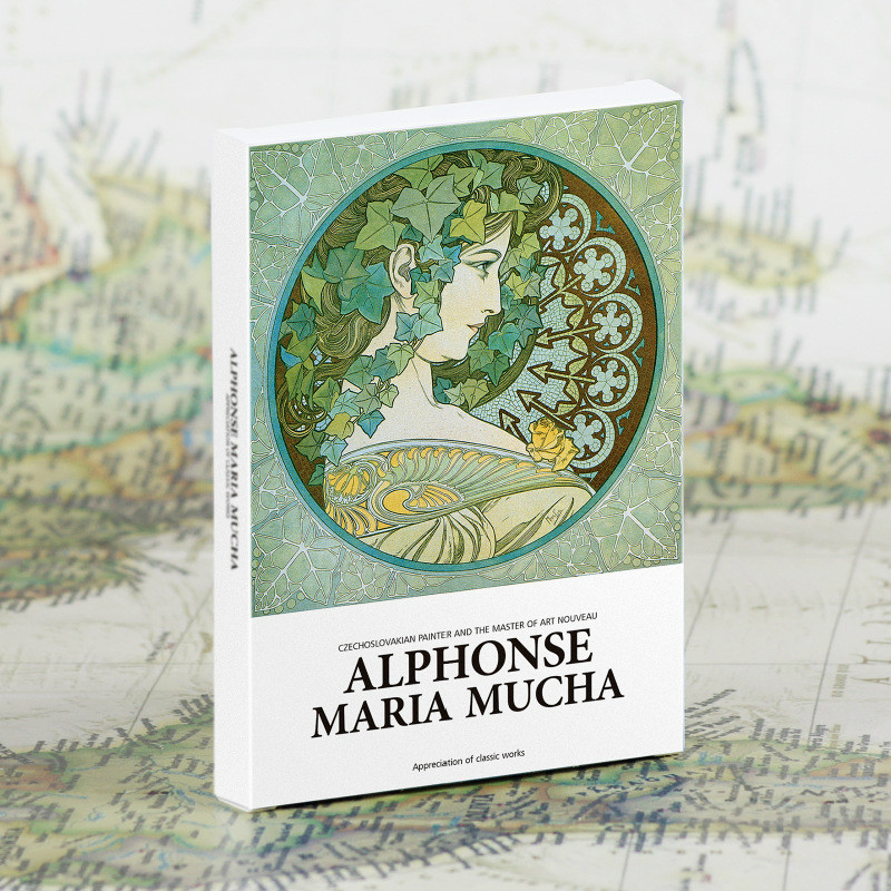 30Pcs/set Alphonse Maria Mucha Postcards Art Postcards Greeting Cards Gift Cards Wall Decor