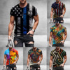 American Flag Printed Men's Casual Fashion T-shirt  3