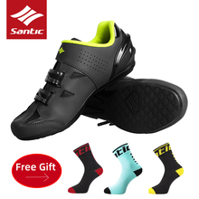 SANTIC Cycling Shoes Men Women Breathable MTB Road Bike Self-Locking Shoes Sports Professional Anti-slip Unlocked Bicycle Shoes