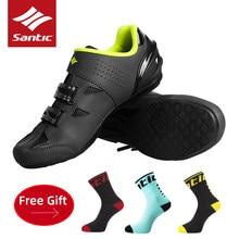 SANTIC obuwie rowerowe mężczyźni kobiety oddychające MTB szosowe samoblokujące buty sportowe profesjonalne antypoślizgowe odblokowane buty rowerowe