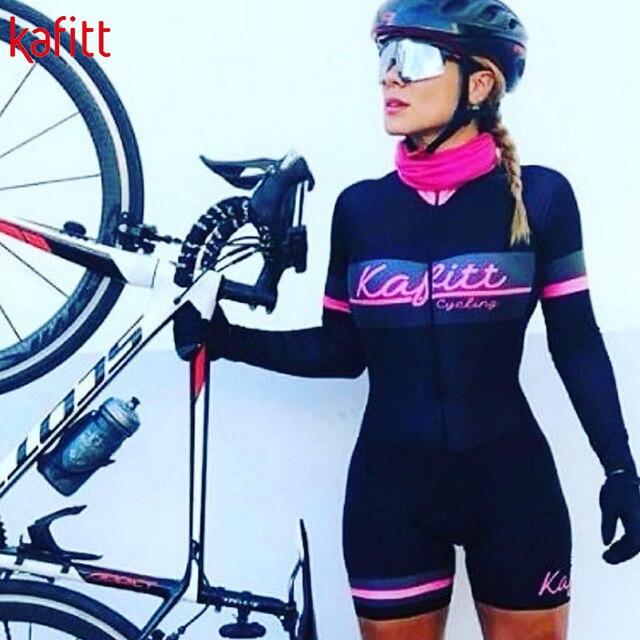 Kafitt feminino triathlon profissional, ciclismo bodysuit, roupa de ciclismo feminino, macacão feminino de uma peça, moletom pro 5