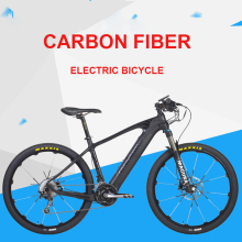Carbon fiber electrical mountain bicycle 27.5inch Hybrid Carbon Fiber Good Lithium PAS Center Motor MTB DEROE EBike Metropolis