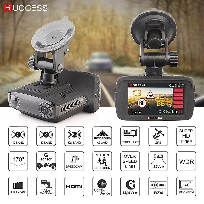 RUCCESS 2.7 Anti Car Radar Detector for Russia with GPS Police Radar Camera 170 Degree CAR DVR Full HD 1080P Video Recorder - 2