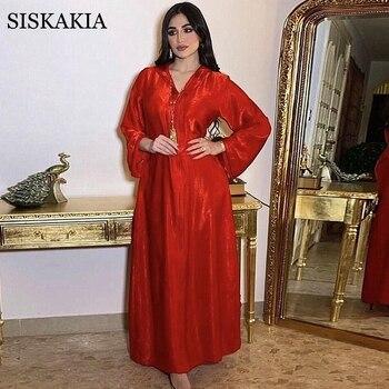 Moroccan Caftan Dubai Hooded Abaya Dress for Women France Velvet Ribbon Long Sleeve Moroccan Turkish Arabic Muslim Clothes Red 2020 New 1