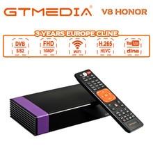 цена на Gtmedia V8 honor Satellite Receiver H.256 Wifi DVB-S2 Same as GTmedia V8 Nova Built in Wifi Dongle Full HD Satellite Receiver