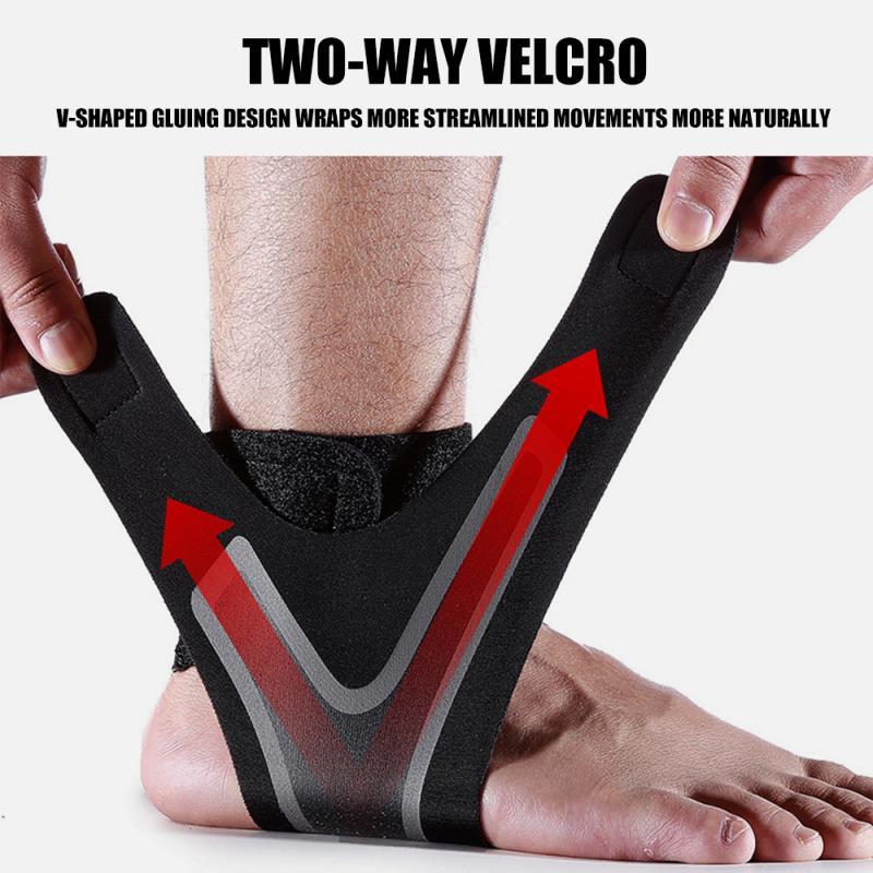 1 ud. Almohadilla para tobillo elástica ajustable soporte deportivo para tobillo presión Anti giro transpirable Fitness deportes banda de seguridad|Tobillera| - AliExpress