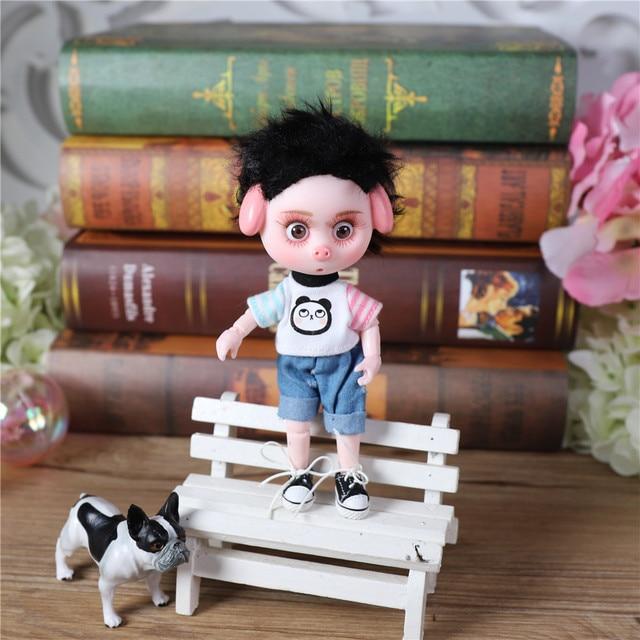 Dream Fairy 1/12 BJD DODO Doll 14cm mini doll 26 joint body Cute children gift toy ob11 3