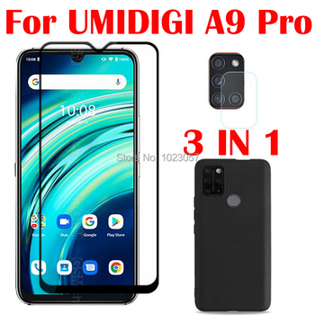 3-in-1 Case + Camera Tempered Glass On UMIDIGI A9 Pro 32/48MP 6.3 ScreenProtector Glass For UMIDIGI A9 Pro 2.5D Glass