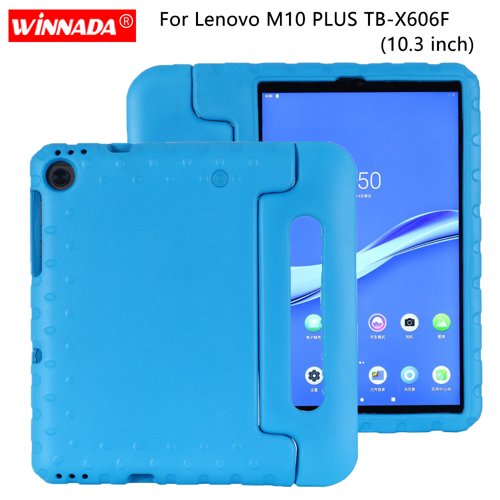 For Lenovo Tab TB-X606F Case Kids Shockproof EVA Full Body Handle Stand Cover For Lenovo