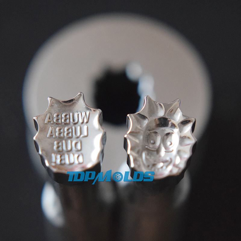 Closeout DealsRik 9.4x11.2mm Milk Tablet Die 3D Punch Press Mold Candy Punching Die Custom Logo Calcium Tablet Punch Pill Press Manual Die