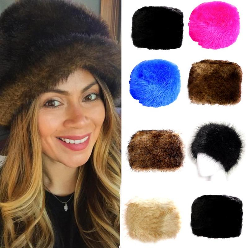 Imitation Fox Fur Hats 2019 New Winter Warm Thick Plush Hats Women Outdoor Luxury Soft Fluffy Female Hats Russian Warm Caps