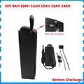 500W 36 V 8AH 10AH 12AH 13AH 15AH 18AH argent poisson batterie 36 V Lithium ebike batterie avec port usb 15A/30A BMS 42V 2A chargeur