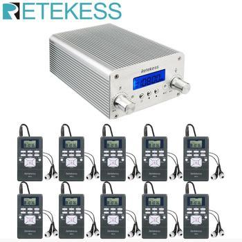 Retekess TR501 6W Wireless FM Broadcast Transmitter Radio Station+10pcs PR13 Radio for Drive-in Church Meeting Translation 1