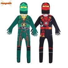 Ninja Costume Bambini Costumi di Costumi di Halloween per i bambini Ninjago Ragazzi Costume di Halloween Vestito Cosplay di Supereroi Tute E Tute Da Palestra Abiti