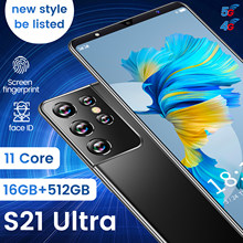 Global Version S21 Ultra Smartphone 6.1inch 24MP+48MP Camera 16+512G 5800mAh Dual SIM Support T-Flash Card 5G Cellphone