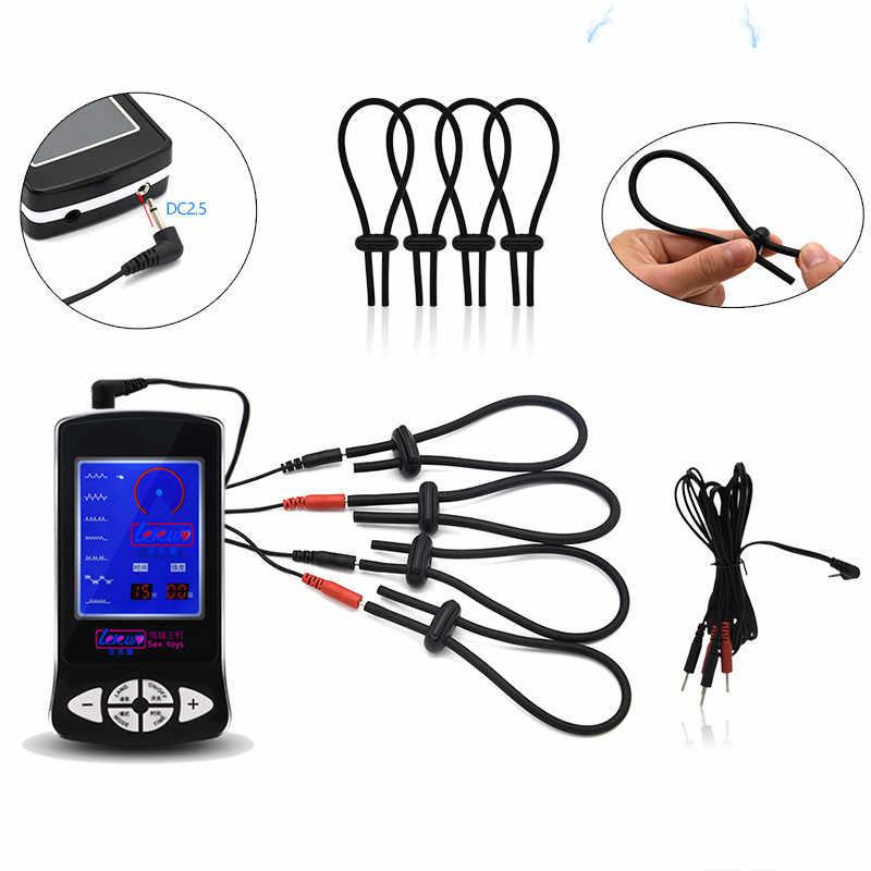 ขนาดใหญ่ Anal Plug Electro Shock Butt ปลั๊กอวัยวะเพศชายแหวน Electro Therapy ไฟฟ้า Shock ไฟฟ้ากระตุ้นของเล่น
