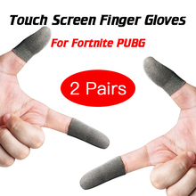 2 Pairs for Fortnite Gatillos Para Celular Pubg Touch Screen Finger Sleeve Sweatproof Breathable Mobile Game Controller Gloves