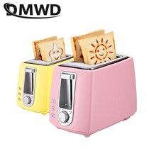 Tostadora eléctrica de acero inoxidable DWMD, máquina automática para hornear pan, máquina de desayuno, horno para parrilla de emparedado tostado, 2 rebanadas