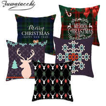 Fuwatacchi Christmas Style Cushion Cover Colorful Pattern Throw Pillow Cover Decorative Pillow Cover Sofa Pillow Case Pillowcase eye pattern back cushion cover throw pillow case