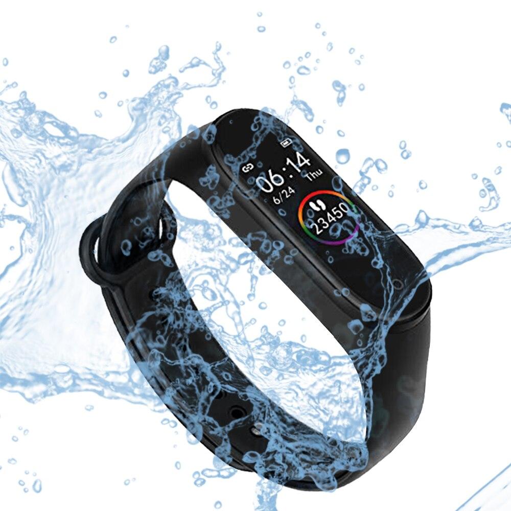 M4 banda rastreador de fitness esporte banda inteligente freqüência cardíaca pressão arterial pulseira m4 smartband pedômetro à prova dwaterproof água pulseira inteligente
