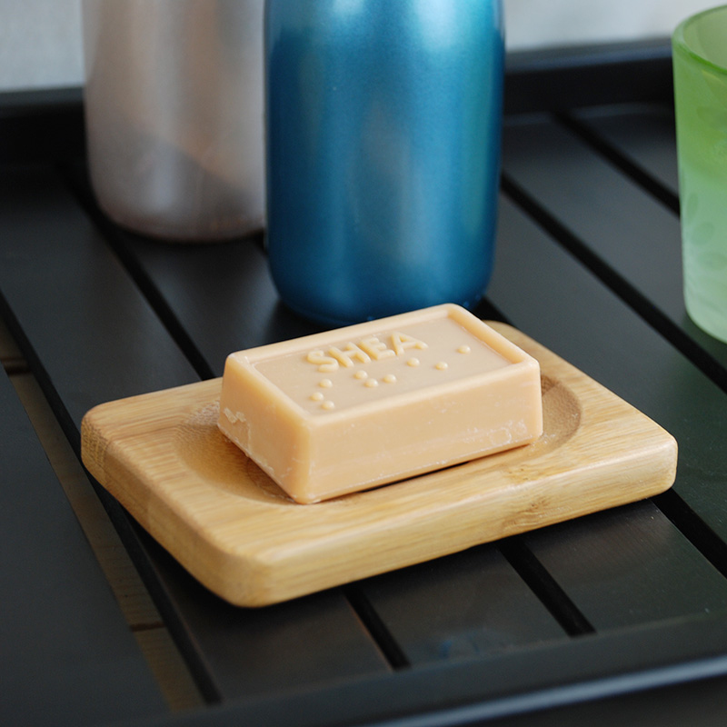 Portable Bamboo Wooden Soap Dish Natural Bamboo Wood Bathroom Shower Soap Dish Storage Stand Kitchen Bathroom Soap Dish