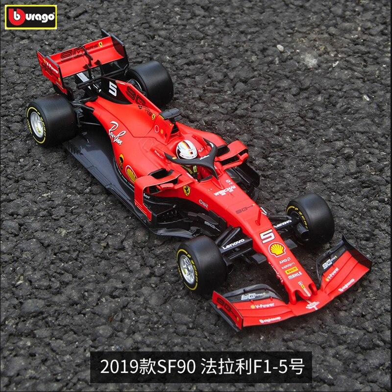 Burago 1:18 Ferrari 2019 SF90-5 en alliage F1 modèle de voiture modèle de moulage sous pression simulation de voiture décoration de voiture collection cadeau jouet