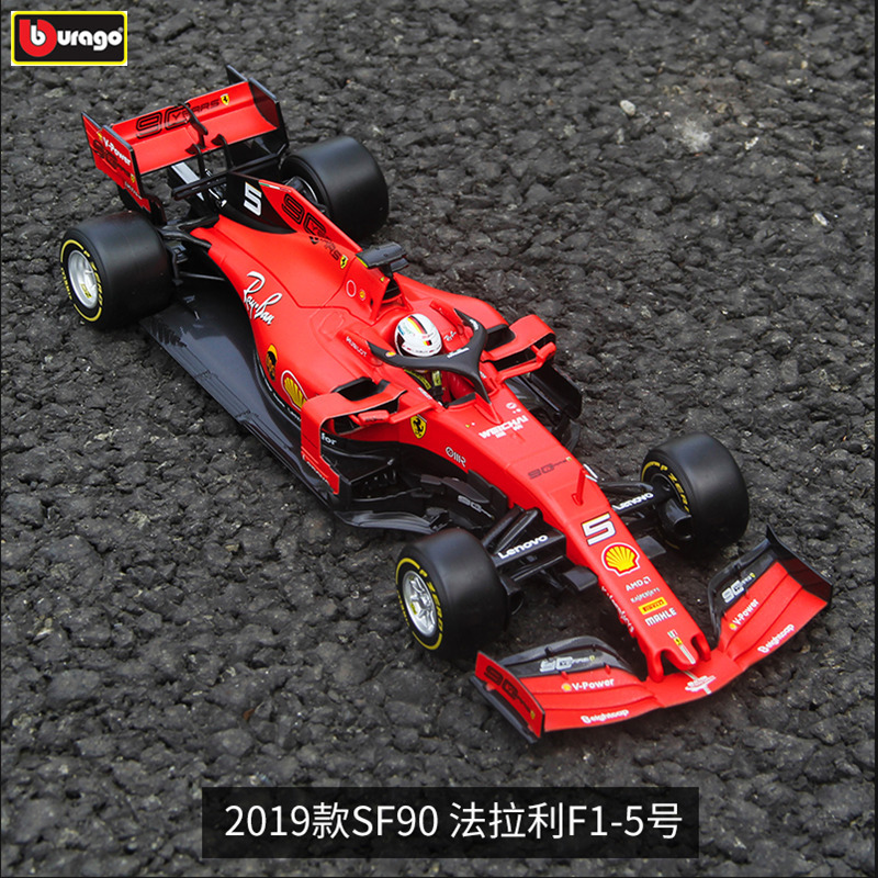 Burago <font><b>1:18</b></font> Ferrari 2019 SF90-5 Alloy F1 <font><b>car</b></font> <font><b>model</b></font> die-casting <font><b>model</b></font> <font><b>car</b></font> simulation <font><b>car</b></font> decoration collection gift toy image