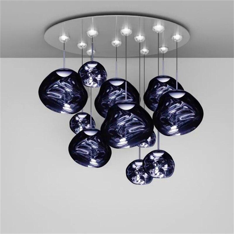 北欧ガラスキッチン器具溶岩デザインペンダントライト照明カフェバーペンダントランプリビングルームアパートの装飾ランプ