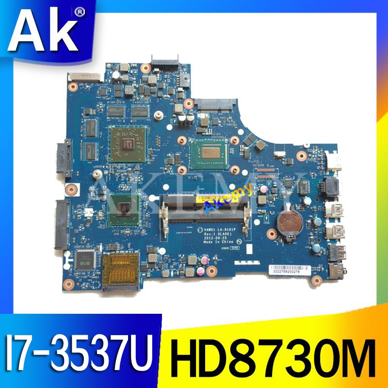 for dell inspiron 3521 5521 V2521 LA 9101P CN 00P55V 00P55V 0P55V Laptop Motherboard with I7 3537U cpu and HD8730M 2GB gpu work|Motherboards| |  - title=