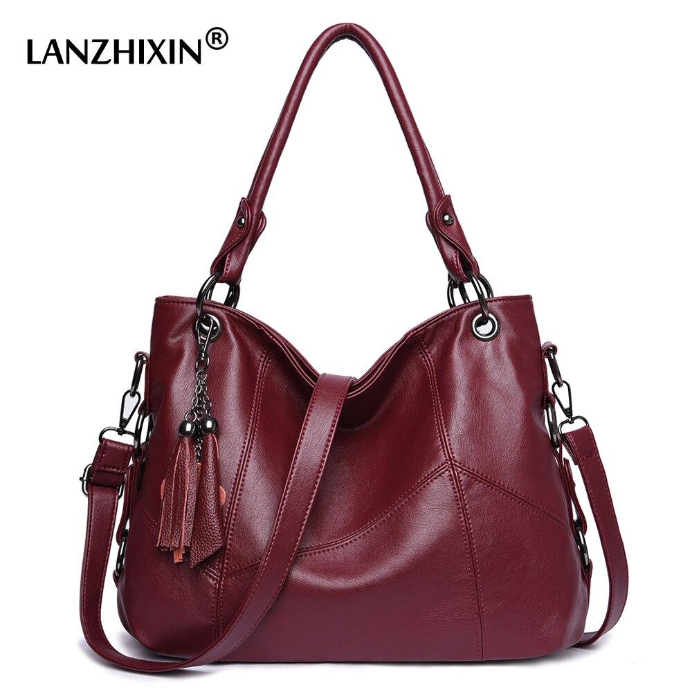 Lanzhixin Crossbody Sacos Para Bolsas de Couro Das Mulheres Mulheres Mensageiro Sacos De Designer de Senhoras Ombro Sacos Tote Top-handle Bags 819S